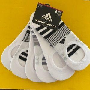 Adidas no show Superlite socks new 6 pairs white